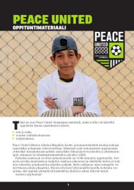 Peace United oppituntimateriaali kansikuva